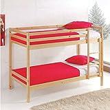 Miroytengo Litera Premier Fabricada en Madera Color Natural litera Dormitorio Juvenil Camas 90x190...