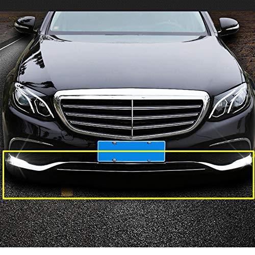 SLONGK Accessori per Auto Piastra paraurti Anteriore in ABS Cromato 3 Pezzi, per Mercedes Benz Classe E W213 2016-2019