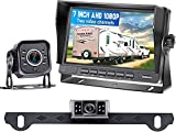RV Backup Camera AHD 1080P with 7 Inch Monitor for RV Trailer Truck 5th Wheel Boat 2 Rear View Cameras Plug and Play System, Super Night Vision IP69 Waterproof Metal Material 12V-36V - DoHonest V27