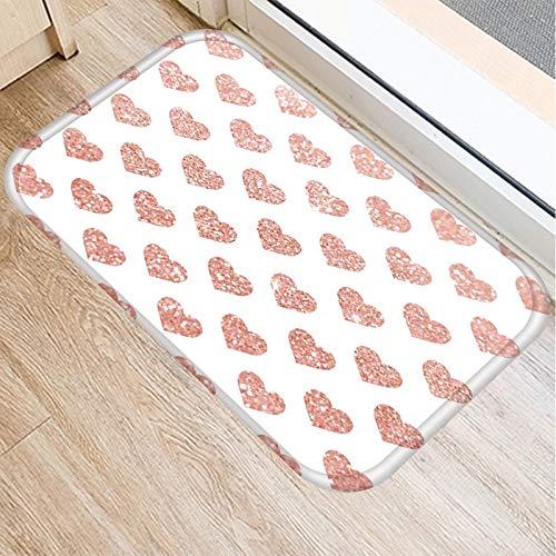 OPLJ Felpudo geométrico Alfombra de Cocina Antideslizante Estilo nórdico Mapa de mármol Piso de baño Inferior Alfombrillas a Prueba de Polvo Felpudo A7 40x60cm