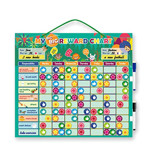 Faguo Magnetic Reward Verhalten Aufgaben Chart Board Pädagogische Tabelle Kalender Kinderspielzeug