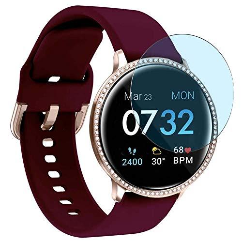 Vaxson 3 Unidades Protector de Pantalla Anti Luz Azul, compatible con iTouch Sport SE Smartwatch Smart watch [No Vidrio Templado] TPU Película Protectora