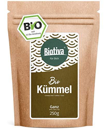 Kümmel Bio ganz 250g - 100% Bio-Premiumqualität - Tee (Babytee) oder Wickel - Intensiv in Duft und Geschmack - Abgefüllt und kontrolliert in Deutschland (DE-ÖKO-005)