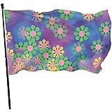 wallxxj Blumen Flagge Hipster Hippie Blumen Vivid Bunten Garten Fahnen Holiday Yard Flag Standard 150X90Cm Willkommen Im Freien Drucken Yard Banner