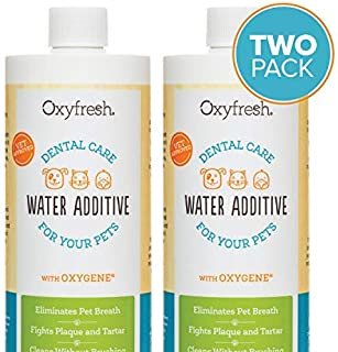 Oxyfresh Premium Pet Dental Care Solution Pet Water Additive: Best Way to Eliminate Bad Dog Breath and cat Breath - Fights Tartar and Plaque - So Easy, just add to Water! Vet Recommended!