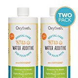 water additive - Oxyfresh Premium Pet Dental Care Solution Pet Water Additive: Best Way to Eliminate Bad Dog Breath and Cat Breath - Fights Tartar and Plaque - So Easy, Just Add to Water 2 Pack (16 oz)