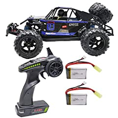 Total 2 pack 7.4V 850mAh, extend running time 40+ minutes . RC Car High Speed Remote Control Car for Kids Adults 1:18 Scale 30+ MPH 4WD Off Road Monster Trucks,2.4GHz All Terrain Toy Trucks with 2 Rechargeable Battery,60+ Min Play Gifts for Boys 1/18...