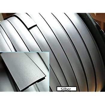Kantenschutz//Chrom Schwarz Matt//U-Profil//in verschiedenen Dicken und Gr/ö/ßen//Selbstklebend INION /® Zierleiste//Leiste 6 mm Chrom, 3 m // 300 cm