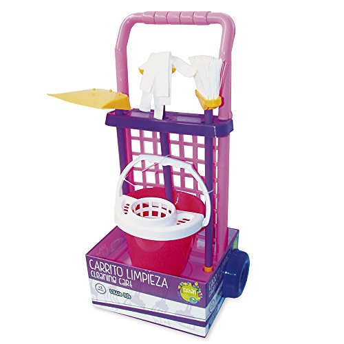 Tachan- Carrito Limpieza Cubo, Color Rosa (CPA Toy Group 12A)