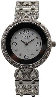 ساعة يد نسائية من اوماكس ، انالوج بعقارب ، فضي