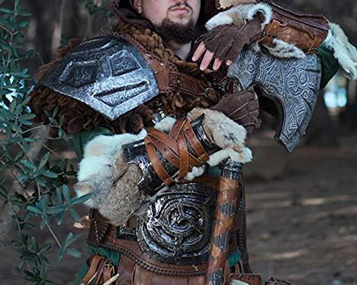 Skyrim Iron Gauntlets, Armschienen aus Larp- oder Cosplay-Leder und Metall für fantasievolles Cosplay, genaue Replik.