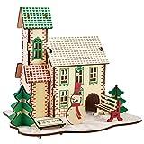 GPWDSN Puzzle in Legno per Bambini, Puzzle in Legno 3D Albero di Natale invernale Pupazzo di Neve FAI da te Puzzle in Legno 3D Kit di assemblaggio per la lavorazione del Legno Taglio di GIO