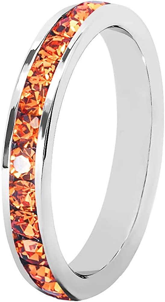 Muses Art Design Birthstone Superior Eternity Ring Baltimore Mall Channel Full Band Set