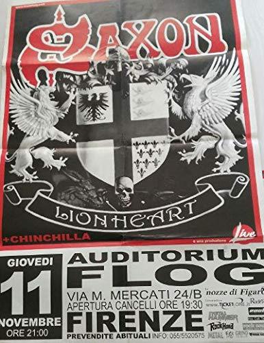 Saxon Lionheart Tour Firenze Auditorium Flog 11/11 Poster