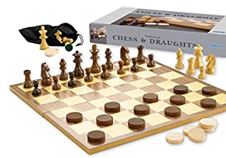 Gibsons G740 Chess and Draughts Set, Black (B002CGS2WS) | Amazon price tracker / tracking, Amazon price history charts, Amazon price watches, Amazon price drop alerts