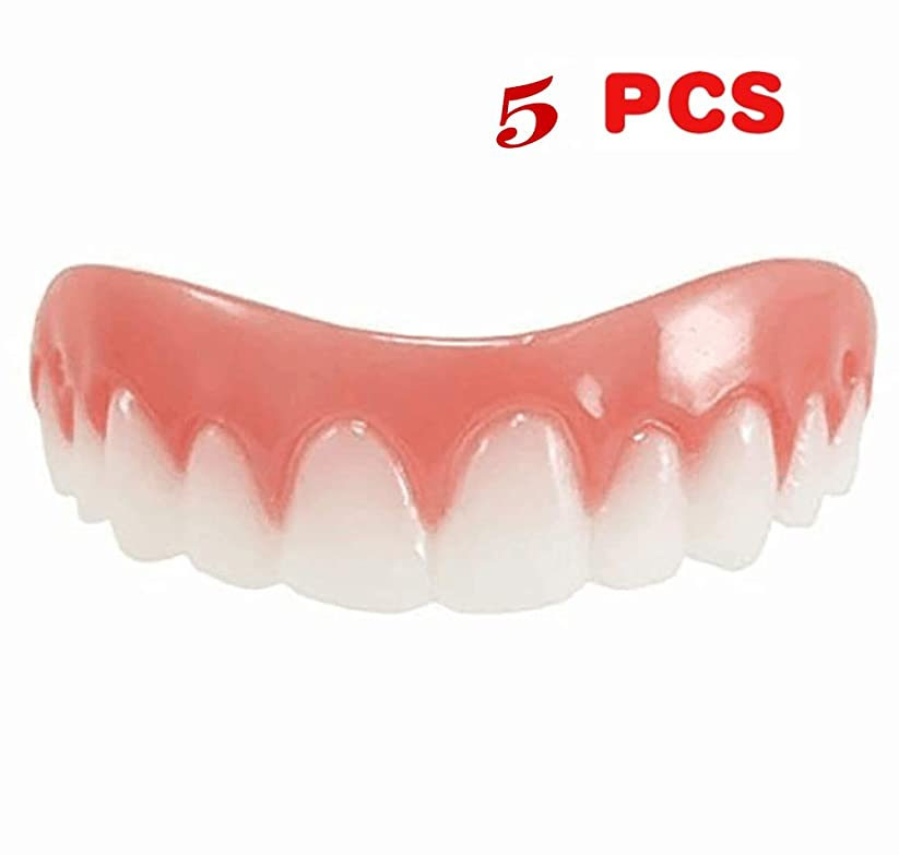 住居遺伝的よろめく5ピース新しい再利用可能な大人のスナップオンパーフェクトスマイルホワイトニング義歯フィットフレックス化粧品歯快適な突き板カバーデンタルケアアクセサリー