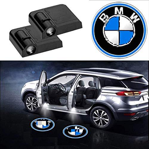 Autotür-Begrüßungslicht, universelle kabellose Projektorleuchten mit Autotür-LED, keine Notwendigkeit zum Bohren von Laser-Emblem-Logo-Kit-Lampen für alle Autos (2 Stück, für BMW)