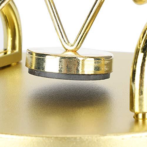 Hoseten Rueda de la Fortuna Movimiento perpetuo, USB y batería (baterías no Incluidas) Marco Dorado Decoración Arte Movimiento perpetuo Juguete de Escritorio 9.3 X 4.2in para Oficina en casa