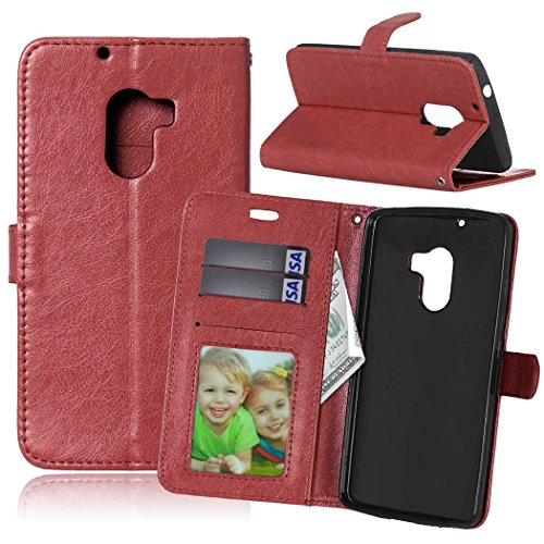 Lenovo Vibe K4 Note A7010/Vibe X3 Lite Bookstyle 3 Card Slot PU Leather Wallet Case for TPU Silicone Case Cover