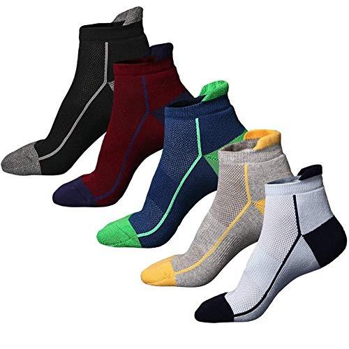NALCY Calcetines de Deporte, 5 Pares Calcetines Cortos Tobilleros, Calcetines Running Deportivos Unisexo, Cortos Calcetin, Calcetines Transpirable