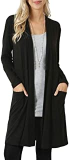 Women Solid Soft Open Front Long Sleeve Knited Cardigan Coat