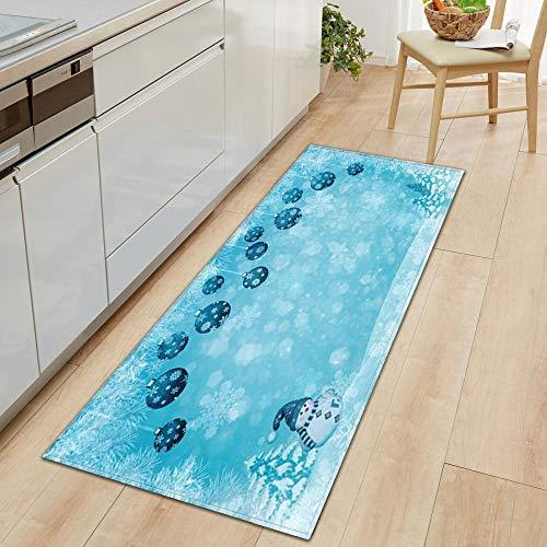 XIAOZHANG runner rug Snow scenery decoration Crystal velvet Floor Rugs Anti Skid Mats Living Room Bedroom Kitchen 60x90CM