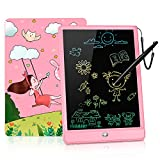 GRINETH LCD Writing Tablet ,10 inch Colorful Doodle Board ,Educational Gifts Toys for Girls (Pink)