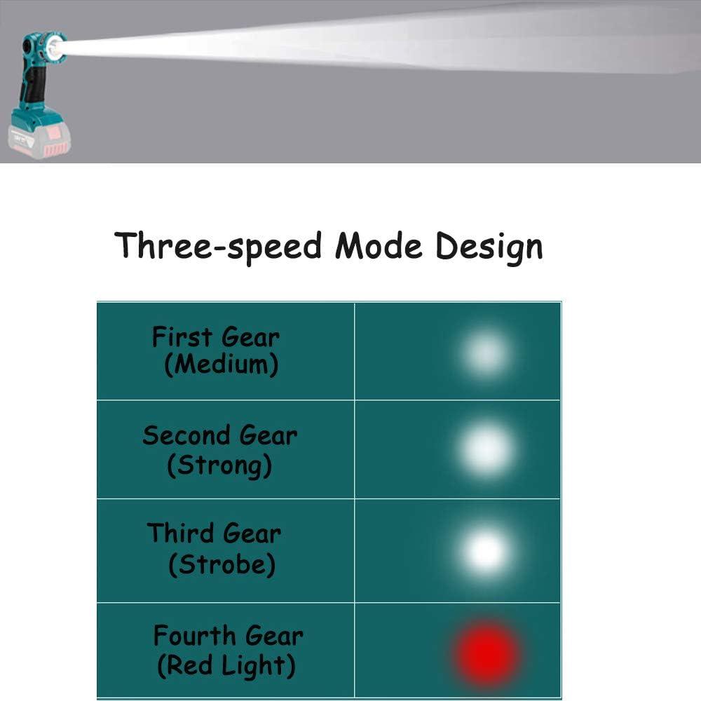 Para BOSCH l/ámpara de iluminaci/ón port/átil con interfaz USB adecuada para bater/ía Para BOSCH 14.4V-20V adecuada bater/ía de litio18V 3W port/átil