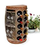 DanDiBo Casier à vin Tonneau à vin 1547 Desserte Armoire Tonneau en Bois 65cm Bar à vin, Bar Table Murale