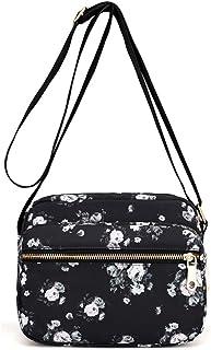Collsants Small Nylon Purse Mini Crossbody Bag Travel Shoulder Bag Multi Zipper Pockets