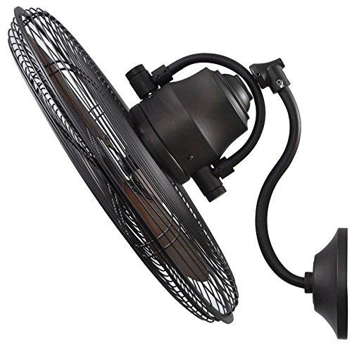 allen + roth 18-Inch 3-Speed Oscillation Indoor Outdoor Wall Bronze Fan