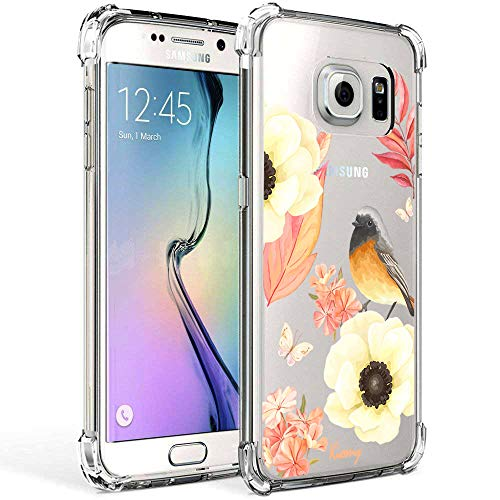 Galaxy S7 Case, KIOMY Crystal Clear Case with Design Flowers and Bird Pattern Print Bumper Protectiv - http://coolthings.us