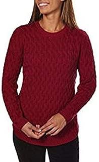 Ladies Crewneck Sweater (Red Currant, Large)