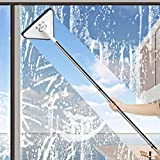 Multifunctional 360 ° Cleaning Mop, Triangle Lazy Cleaning Mop with Wiper, Household Window Cleaning Car Glass Wiper Cleaning Mop, Long Rod Rotatable Telescopic Squeegee Cleaner (1 Set)