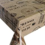 Wachstuch Wachstischdecke Tischdecke Gartentischdecke Kaffeesack Braun Beige Breite & Länge wählbar 100 x 100 cm Eckig abwaschbar Lebensmittelecht