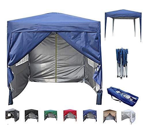 mcc direct Gazébo / Pavillon / Zelt / Pavillon / Faltbarer und wasserfester Baldachin, 2x2m, mit silberner Schutzschicht (blau)