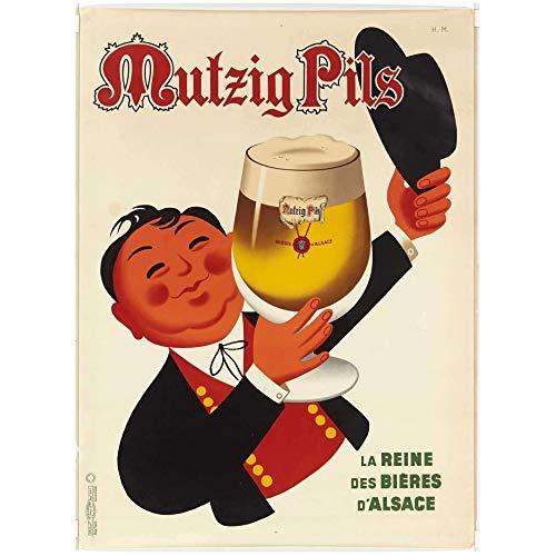 Unbekannt Poster Biere Alsace Mutzig Pils Reproduktion, 50 x 70 cm, Luxus-Papier, 300 g, Verschiedene Formate und Medien möglich.