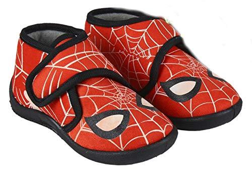 Spiderman-Marvel Bottines - Chaussons d'intérieur phosphorescents Enfant garçon Rouge du 23 au 28 (Numeric_23)
