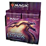 Magic: The Gathering Commander Legends Collector Booster Box | 12 Booster Packs (180 Cards) | 60 Legends | 156 Foils | Min. 24 Extended-Art Cards