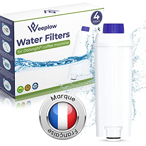 Weeplow - 4 Filtri per l'acqua DLSC002 per le macchine da caffè Delonghi, compatibile con DeLonghi Magnifica, Dinamica, Autentica, PrimaDonna e tutte le serie ECAM, ESAM, ETAM, BCO, EC (4)