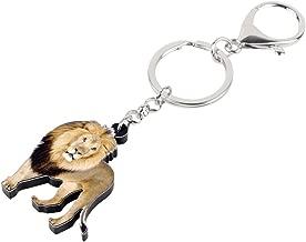 RVXZV Acrylic Elegant Lion Key Chains Keychain Rings Jungle Animal Jewelry For Women Girls Ladies Handbag Charms Gift