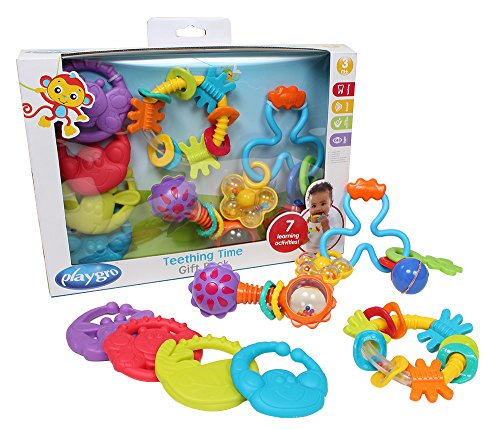 %6 OFF! Playgro 4085429 4 Piece Teething Time Gift Pack for Baby