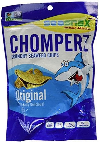 Seasnax Chomperz Crunchy Seaweed Chips, Original, 1 oz