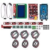 Práctico kit de impresora 3D, indicador de salida del calentador Plan de protección electrónica de luz Una placa de circuito impreso para la impresora 3D SET 2560 Versión mejorada 12864 Pantalla 4988