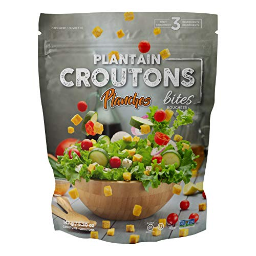 Planchos Plantain Croutons 5.20oz All Natural-Certified Gluten Free, Vegan, Kosher, Non-GMO