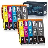 OfficeWorld 33XL Sostituzione per Cartucce Epson 33 Compatibile con Epson Expression Premium XP-7100 XP-540 XP-530 XP-900 XP-630 XP-640 XP-830 XP-635 (2 Nero,2 Nero Foto,2 Ciano,2 Magenta,2 Giallo)