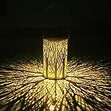 Solarlaterne ca. 22cm hoch mit tollem Baum-Lichteffekt