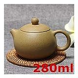 Tetera hogar colector Copa tetera de arcilla púrpura famoso Kung Fu juego de té hecho a mano Pot Set 280ml de cerámica de alta calidad del té Ceremonia de embalaje