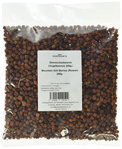 JustIngredients Ebereschenbeeren (Vogelbeeren), Mountain Ash Berries (Rowan), 2er Pack (2 x 250 g)
