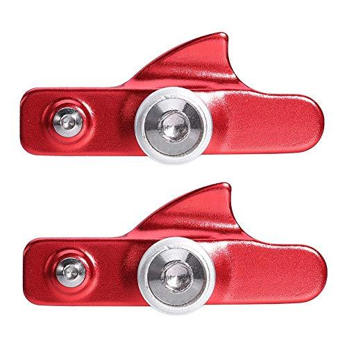 SolUptanisu Pastillas de Freno de Carretera, 2 Piezas V Pastillas de Freno de Bicicleta Aleación de Aluminio Zapatas de Freno de Carretera Bloque de Freno V Pastillas de Freno Estilo cajón(Rojo)